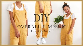 DIY Overall Jumpsuit From Scratch - Step By Step Tutorial