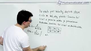 Maturita z matiky 2018 - 3. Slovní úloha - rovnice