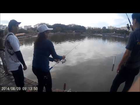 NPD Fishing Day at Pasir Ris Main Pond 2014  with Nadia