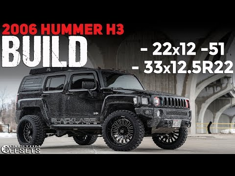 2006 HUMMER H3 ON 22's AND 33's!