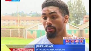 James Michael, mchezaji wa NBA azuru Kenya