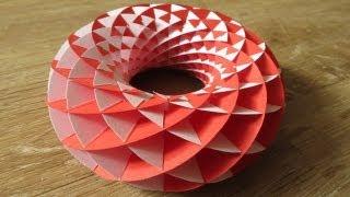 sliceform - papercraft - torus - tutorial - dutchpapergirl