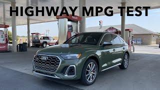 I'm Speechless! 2021 Audi SQ5 Sportback Highway MPG Test