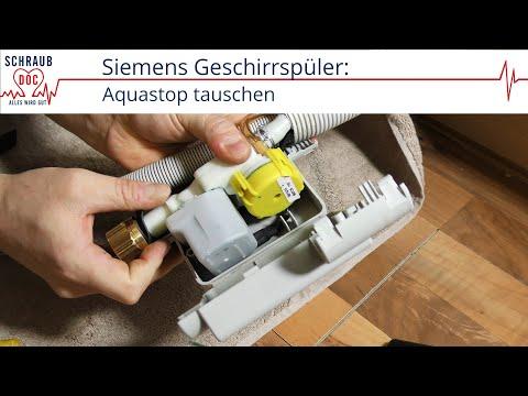 Siemens Geschirrspüler zieht kein Wasser - Aquastop tauschen (Reparatursatz)