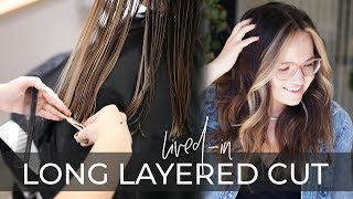 Long Layered Haircut Technique   How To Cut Lived-in Layers On Long Hair (easy Tutorial!)