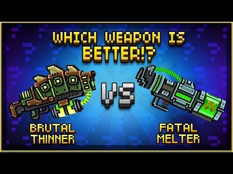 BRUTAL THINNER VS FATAL MELTER (Pixel Gun 3D)