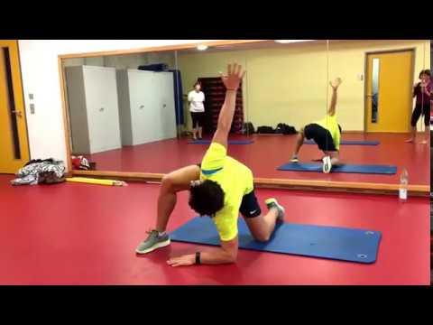 Dzhamaldinov Gymnastik mit Osteoarthritis des Knies