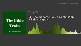 Sin should bother you as a christian. it helps us grow