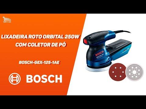 Lixadeira Roto Orbital 250W  com Coletor de Pó  - Video