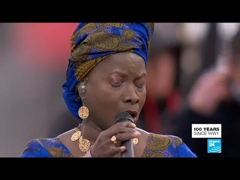WWI armistice centennial: Angelique Kidjo performs during ceremony