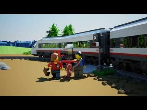 Vidéo LEGO City 60051 : Le train de passagers à grande vitesse