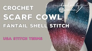 Fantail Shell Stitch Infinity Scarf / Cowl | Free Easy Pattern Tutorial