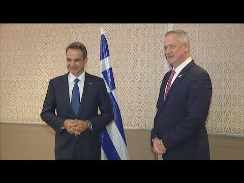 Συνάντηση του Πρωθυπουργού Κυριάκου Μητσοτάκη με τον Benjamin Gantz