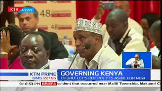 President Uhuru assures the 47 governors that his government is committed to working with them