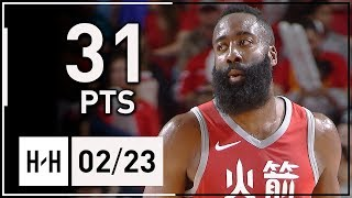 James Harden Full Highlights Rockets vs Timberwolves (2018.02.23) - 31 Pts, 9 Assists!