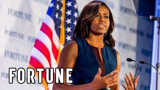 Michelle Obama: Fortune's Most Powerful Women show what educated women can do   Fortune