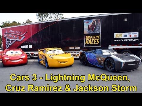 Lightning McQueen, Cruz Ramirez & Jackson Storm From Disney Pixar Cars 3 Appear at Walt Disney World