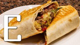 Смотреть онлайн Рецепт мексиканского бурито в домашних условиях