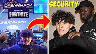 SNEAKING Into Fortnite EVENT Until I Get KICKED OUT!!👮🏻♂️ 24 Hour Challenge