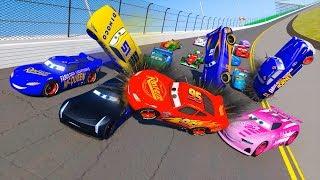 Racing Crash Cars 3 Daytona Fabulous Lightning McQueen & Friends Jackson Storm Cruz Ramirez