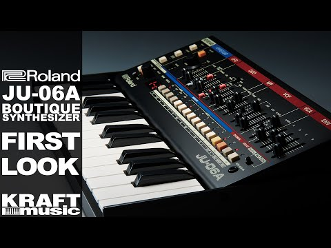 Roland JU-06A Boutique Synthesizer - First Look with Scott Tibbs