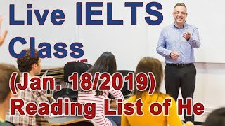 IELTS Live Class - Reading Practice and Strategy - for Band 9