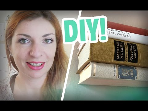 DIY // Schwebendes Bücherregal