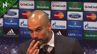 'Look at me when I'm talking to you!' Pep Guardiola loses his temper with reporter