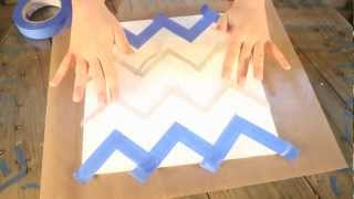 How-to Paint A Chevron Pattern