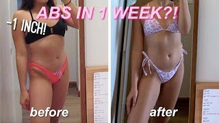 ABS IN 1 WEEK?! | i did alexis ren's ab workout everyday *amazing results*