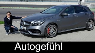 Mercedes-AMG A45 FULL REVIEW test driven A-Class A-Klasse Facelift A200d & A250 Sport all-new neu