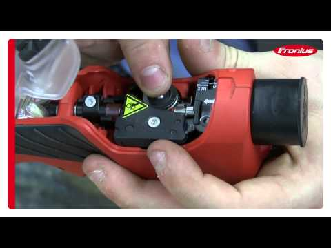 Setup of Fronius inline push-pull MIG torch