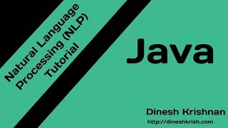 #8 Java NLP Tutorial - Named Entity Recognition | Natural Language Processing