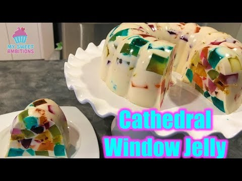 Cathedral Window Jelly Dessert