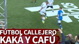 Recital de Kaká y Cafúen una exhibición de fútbol callejero | Diario AS