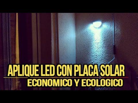Como tener Luz Gratis con Aplique Solar Led Luz Ambiental para Terraza o Jardin