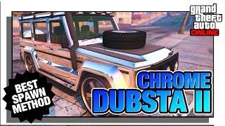 Spawn The Chrome/Gold Dubsta in GTA Online RARE Street Vehicle