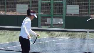 クルム伊達公子ボレー練習with ザリーナ・ディアス Kimiko Date practice volley
