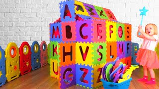 ABC Alphabet Phonics Song Nursery Rhymes for Kids with Katya and Dima