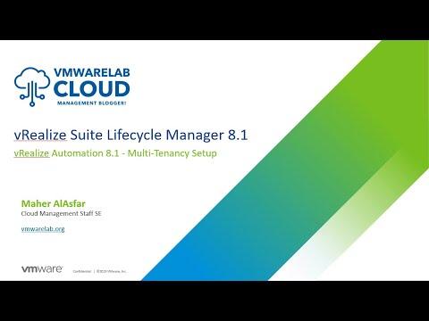 vRealize Automation 8.1 - Multi-Tenancy Setup with vRealize Suite ...