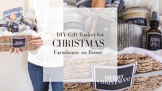 DIY Christmas Gift Basket | HANDMADE CHRISTMAS | Farmhouse On Boone