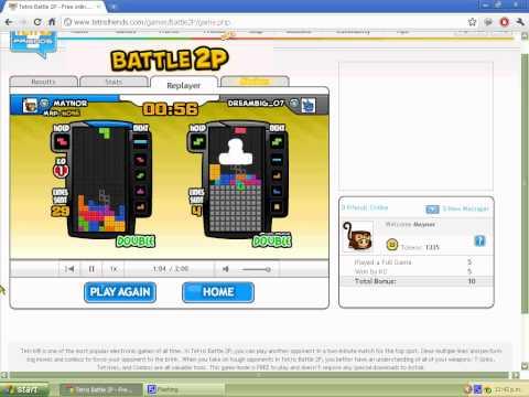 Tetris Bot plays Battle 2P on tetrisfriends com - смотреть онлайн на