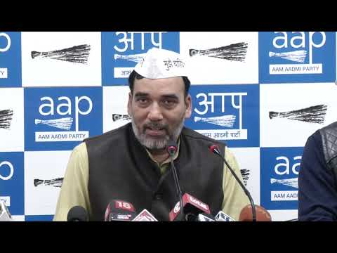AAP Press Brief by Aap Leader Gopal Rai on the AAP - Cong Alliance