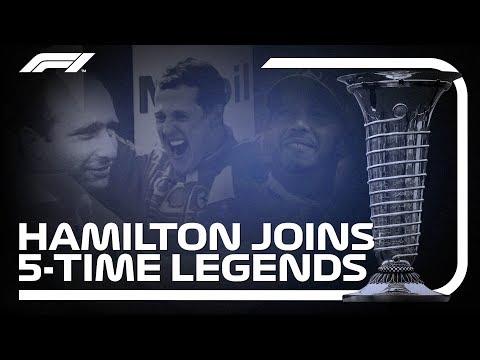 Hamilton, Schumacher and Fangio: Five-time Champions