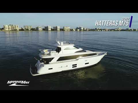 Hatteras M75 video