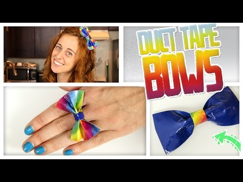 DIY Duct Tape Bows! - Do It, Gurl