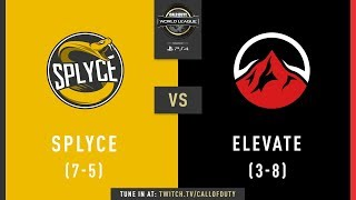 Splyce vs Elevate | CWL Pro League 2019 | Division B | Week 9 | Day 2