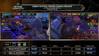 EUROPE Grand Final!  MDI Mythic Dungeon Invitational 2018! Team Pogchamp vs Kjell's Angels!