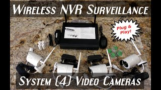JOOAN Wireless/Wired NVR Surveillance System w/Remote Viewing