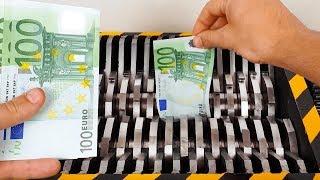SUPER RICH GUY SHREDDING MONEY